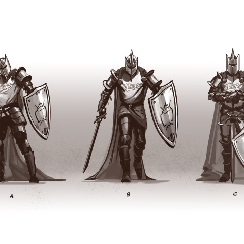 Ghost King rough sketches